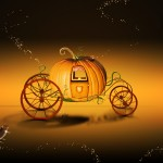 Pumpkin cart desktop wallpaper