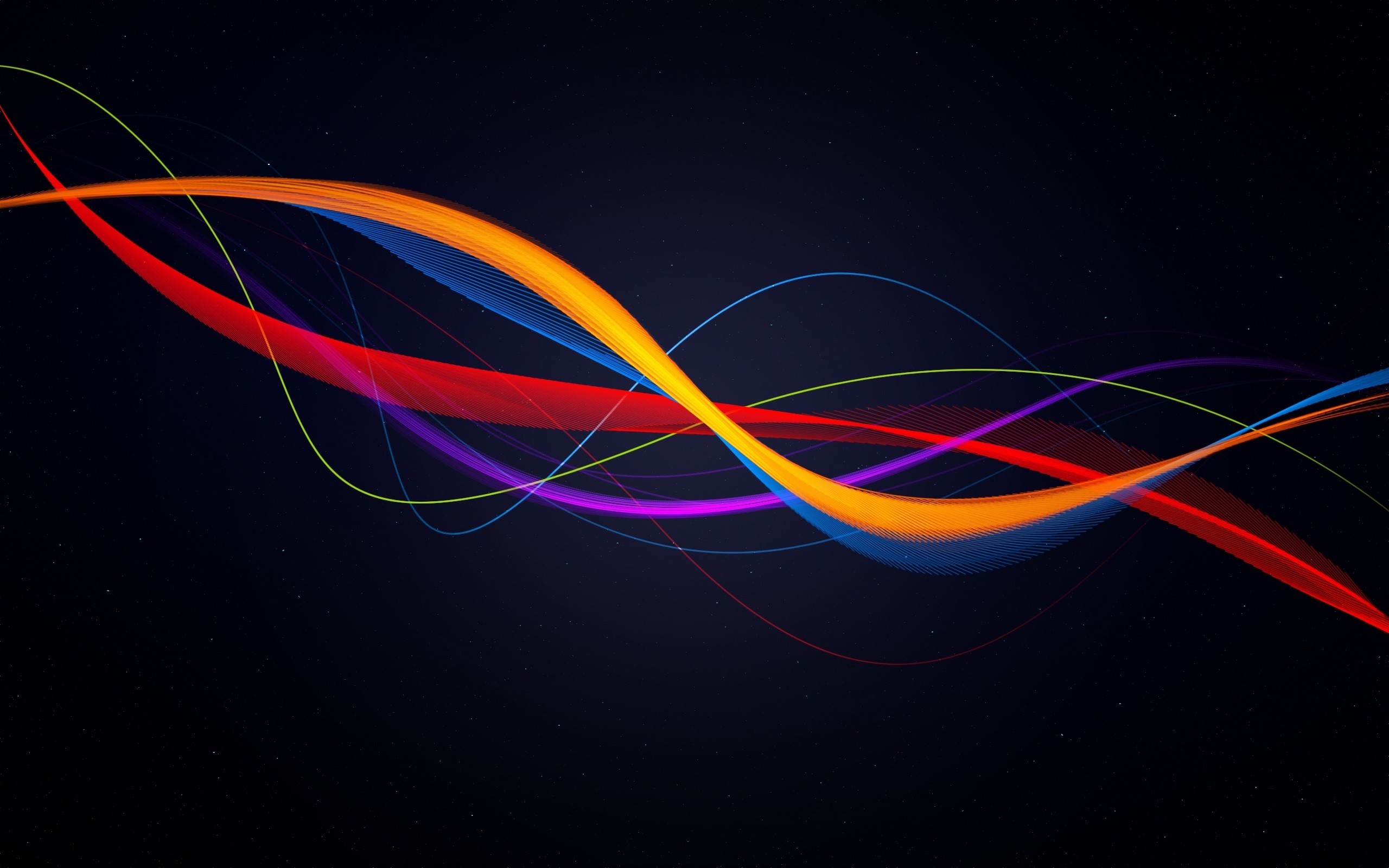 Colourful space swirl wallpaper