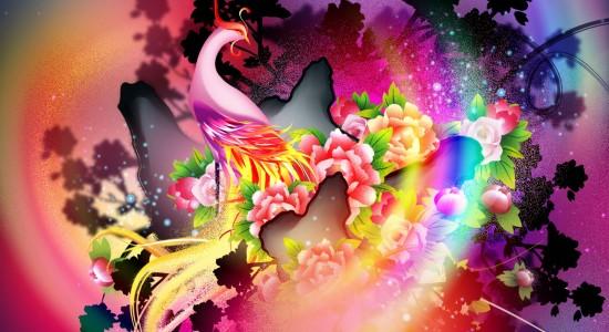 High resolution vector bird wallpaper