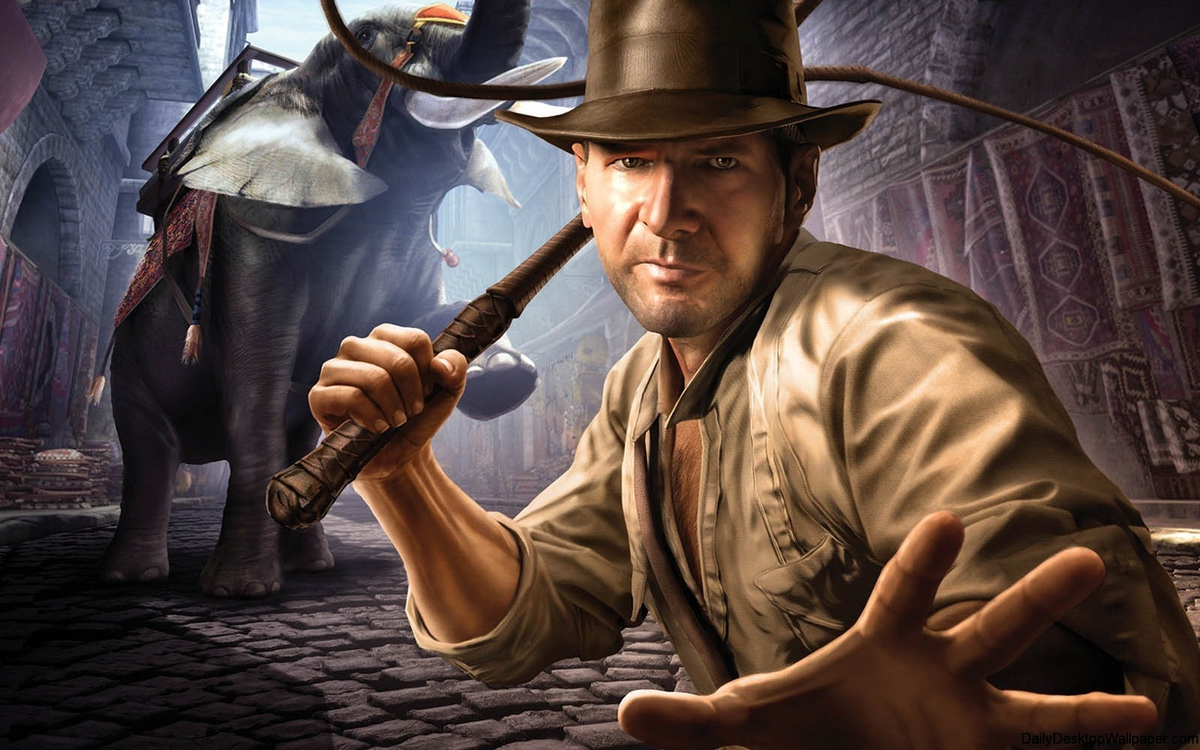 Indiana jones and the staff of kings  x  widescreen wallpaper
