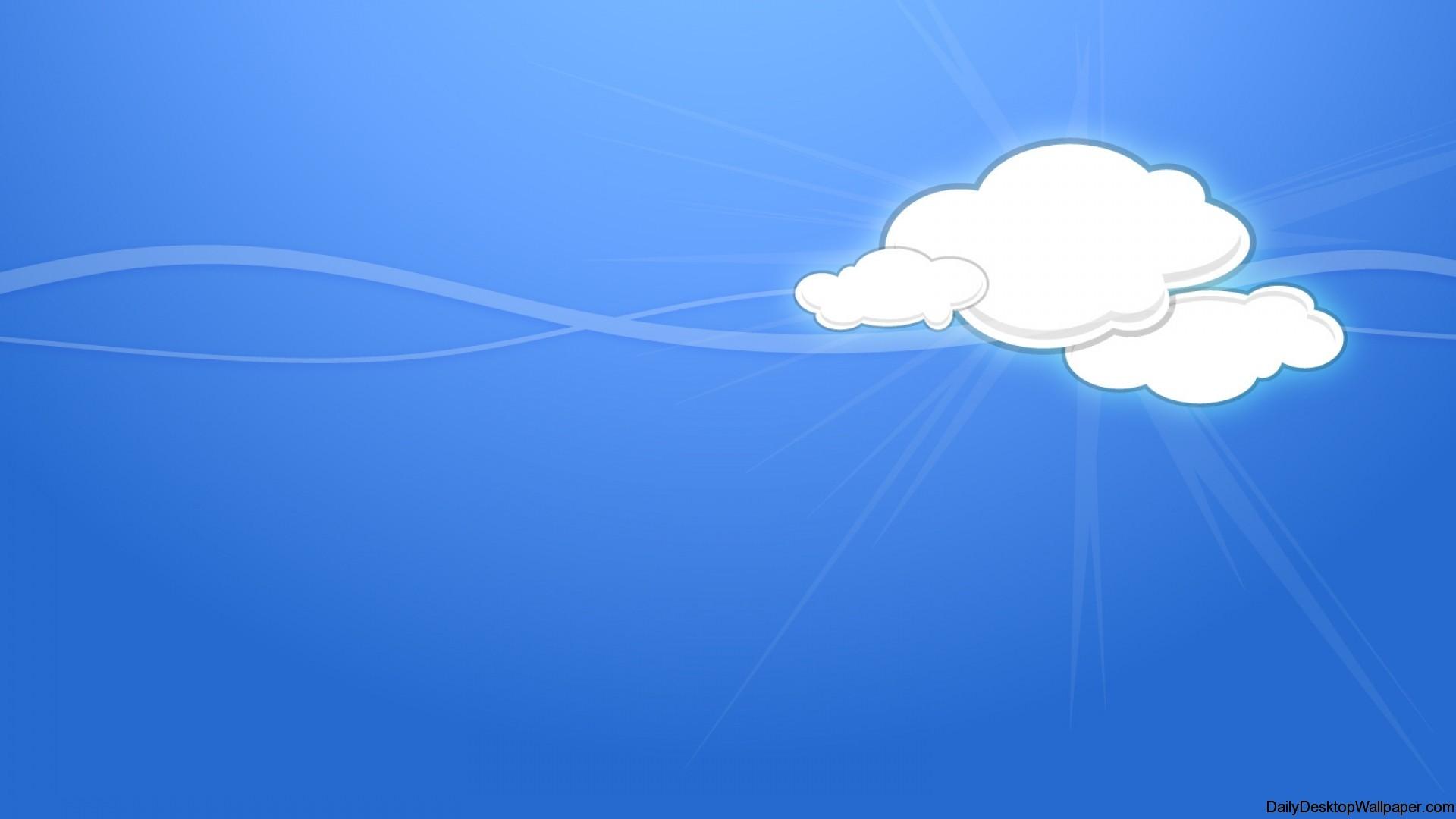 Cartoon cloud wallpaper