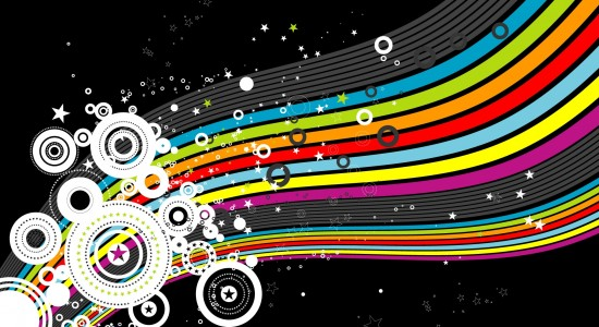 Colourful vector wallpaper
