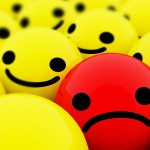 Sad face ball