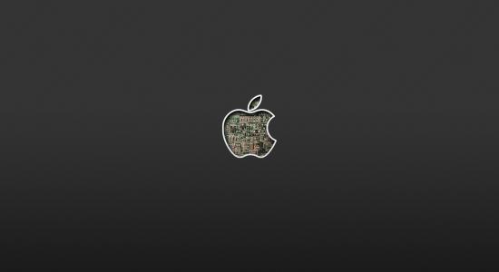 Internal hardware apple logo