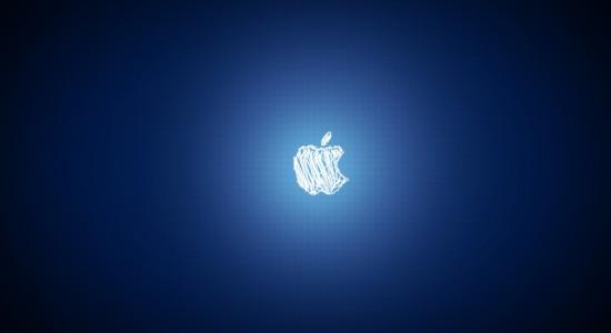 Scirbbled Apple Logo Wallpaper