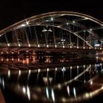 Bridge over water wallpaper