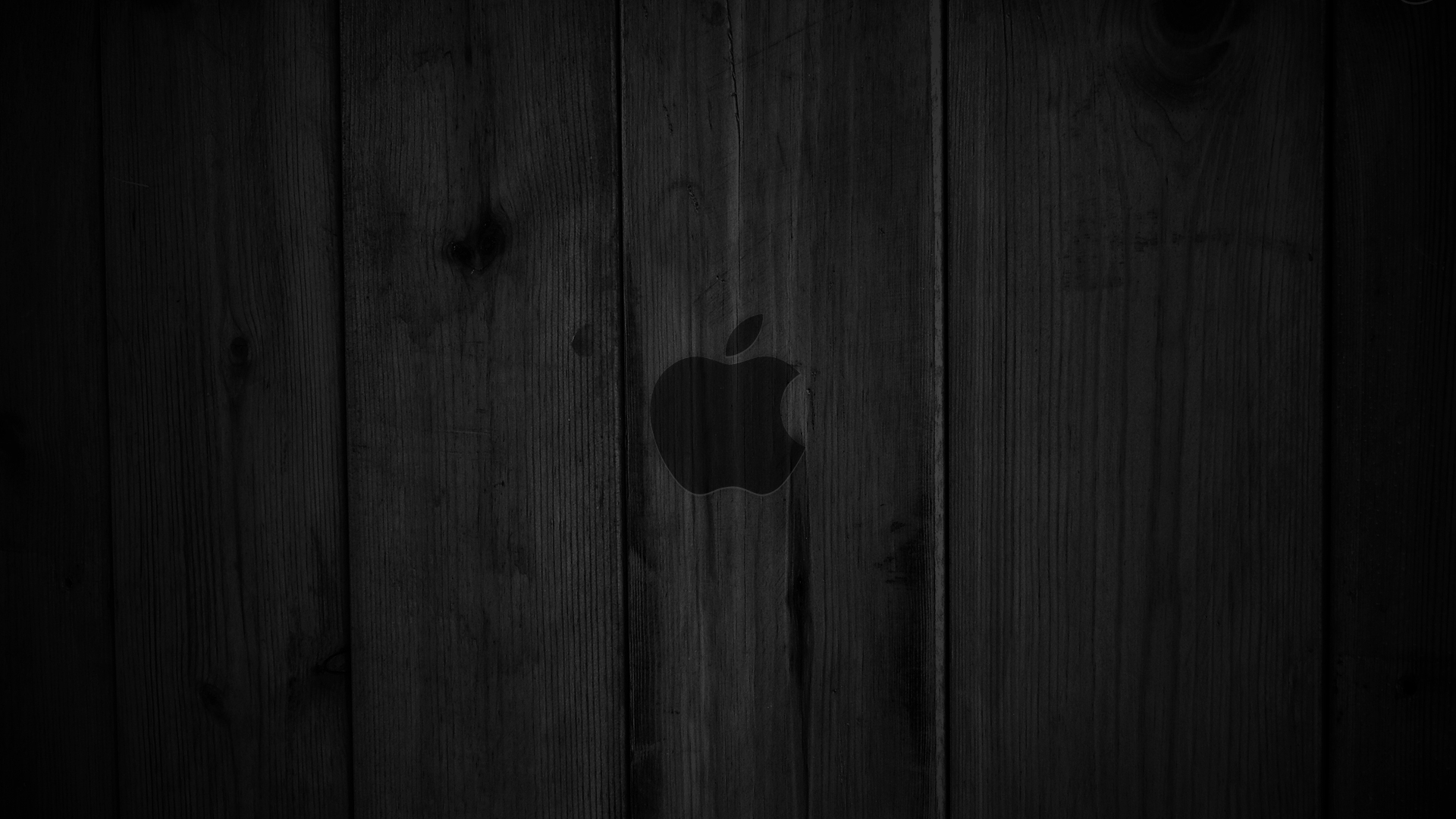 Dark wood OS X Apple wallpaper
