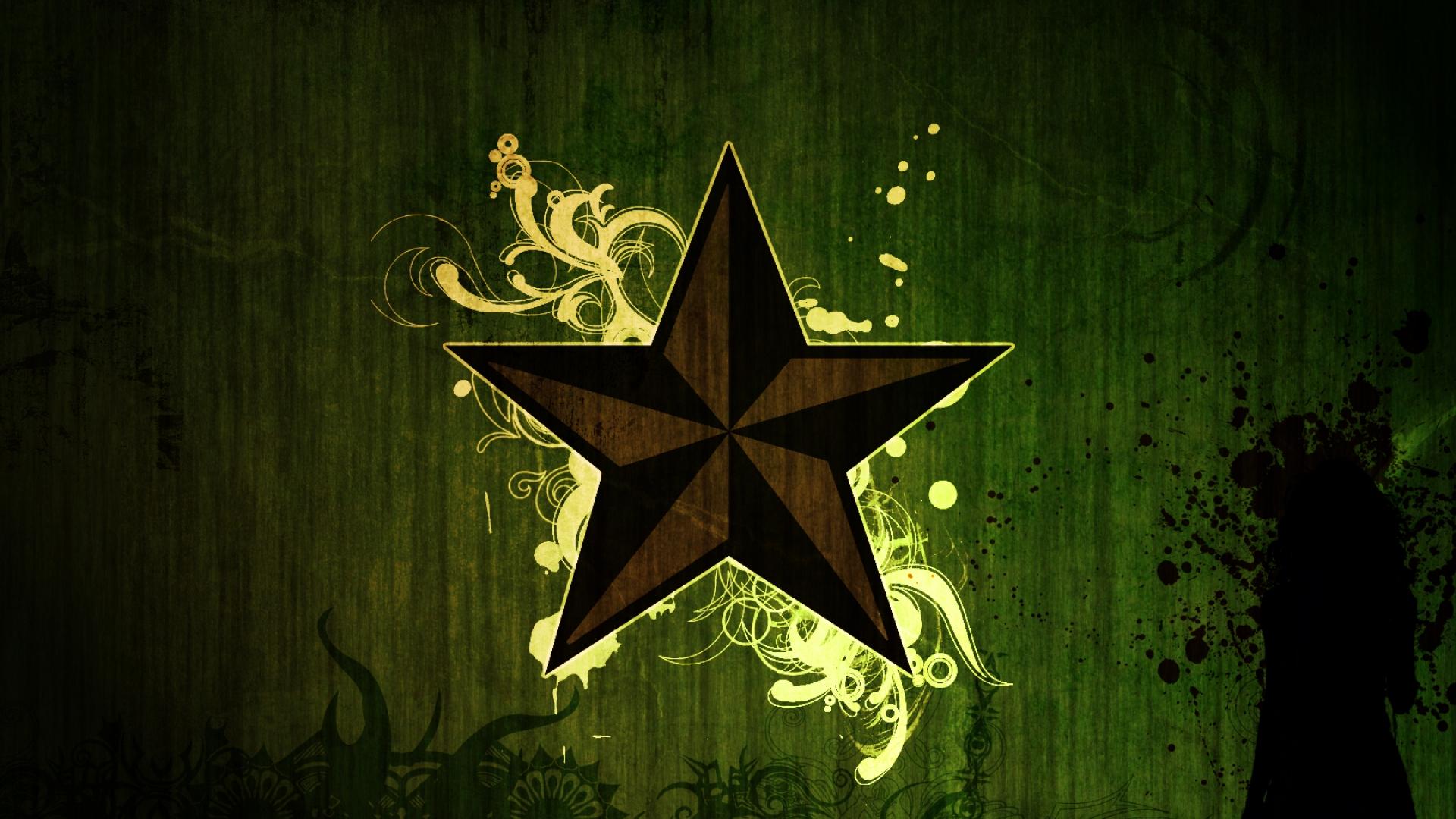 Grunge star wallpaper