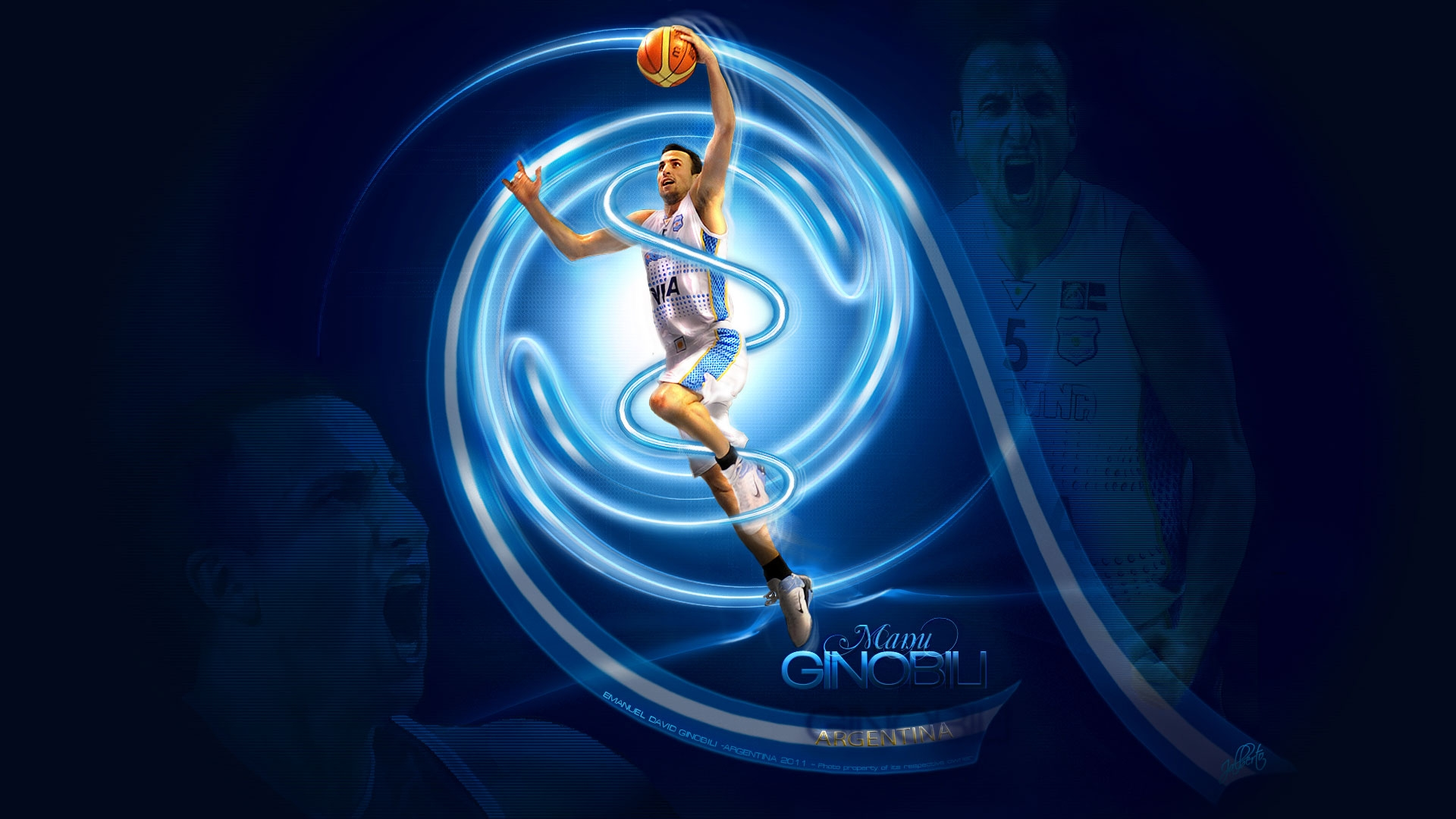 Manu Ginobili NBA Wallpaper