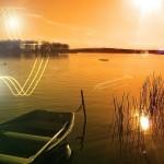 Open lake glowing wallpaper