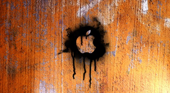 Spray paint Apple logo