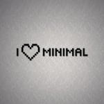 I Love Minimal Pixelated