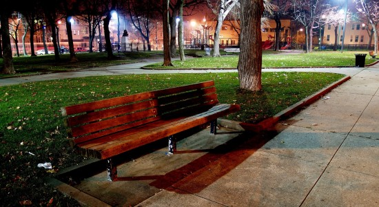 Park bench wallpaper