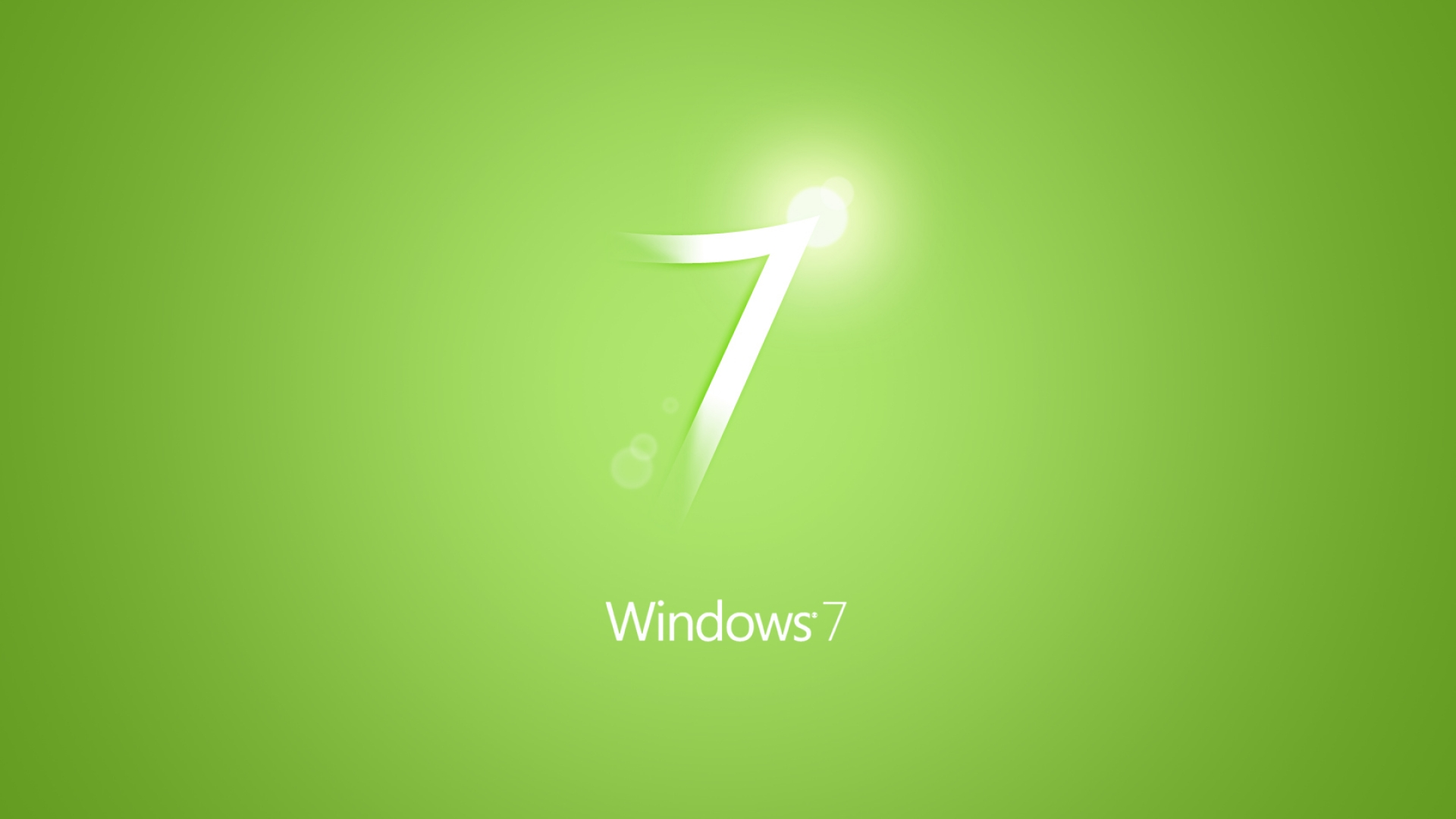 Simple green Windows 7 logo