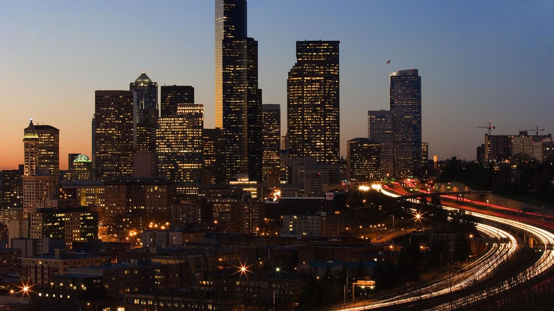 City skyscraper wallpaper