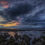 Roaming clouds landscape wallpaper