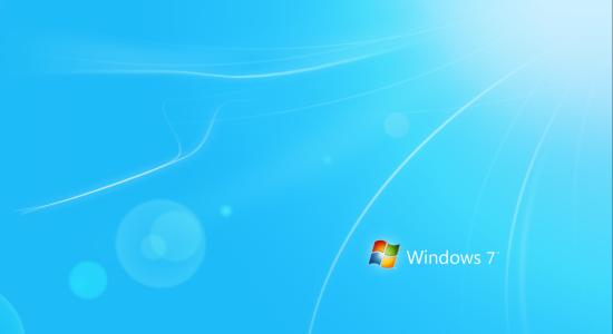 Blue With Logo Windows 7