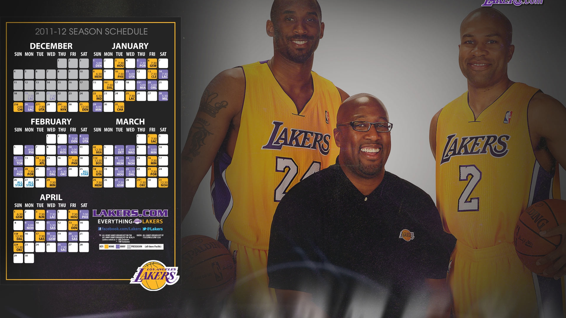 LA Lakers 2012 Schedule