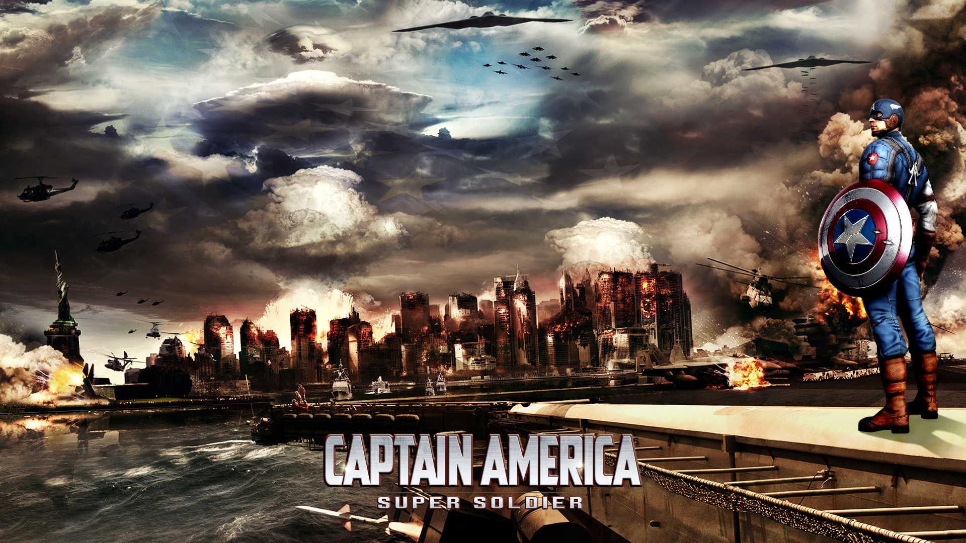 Captain America Destruction Wallpaper