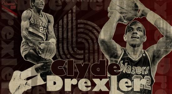 Clyde Drexler Blazers basket ball wallpaper