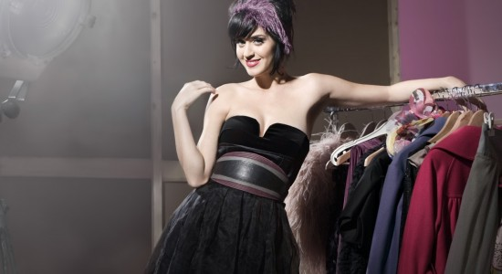 Katy Perry black dress wallpaper