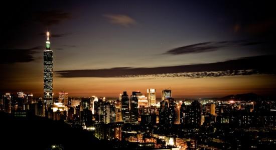 Night time city wallpaper