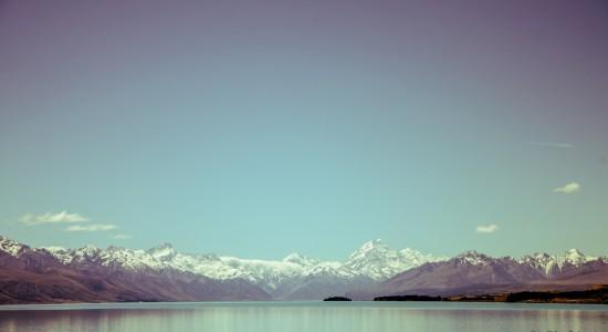 View Across a winter Lake wallpaper