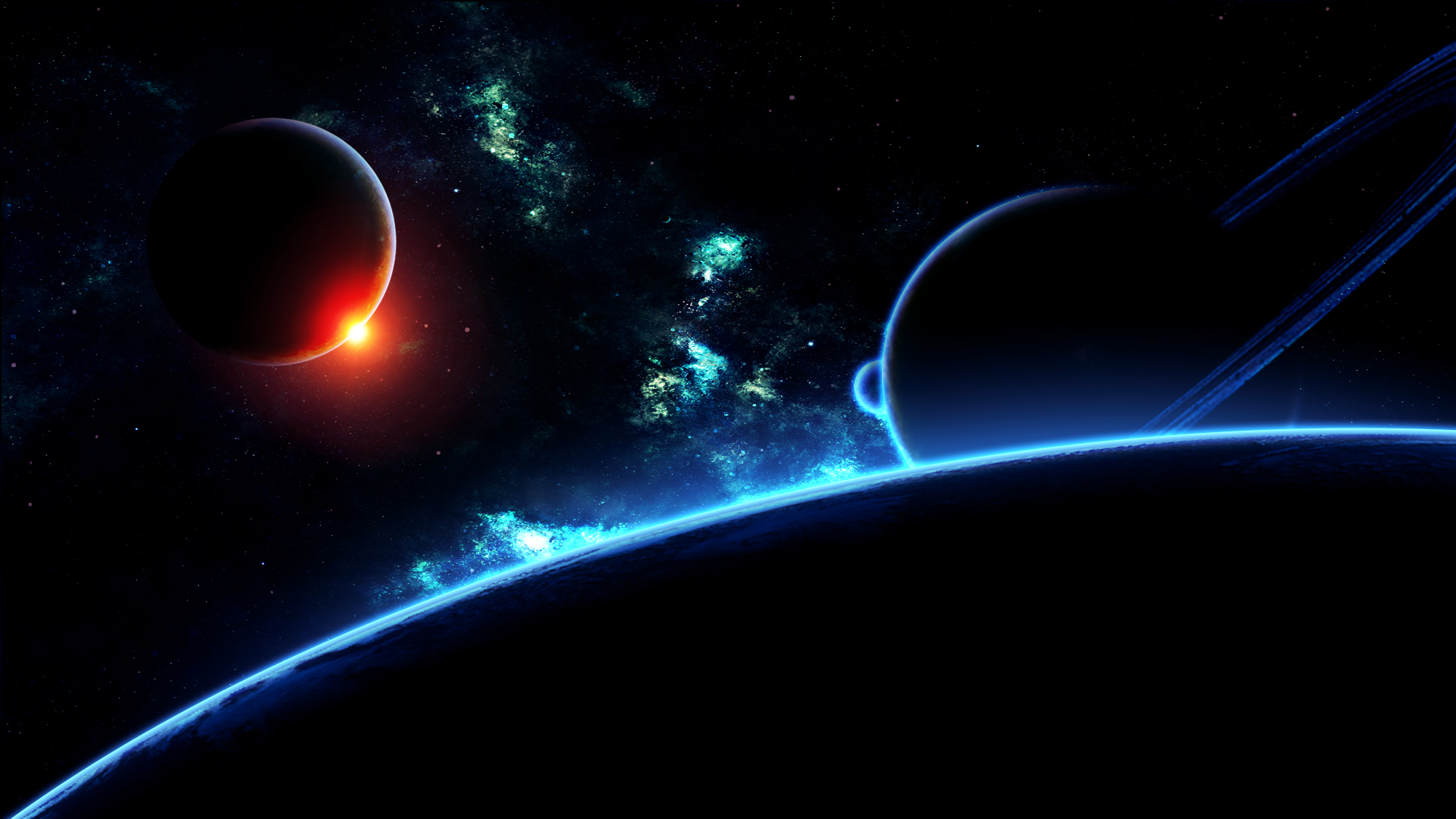 desktop wallpaper space 7 deep space
