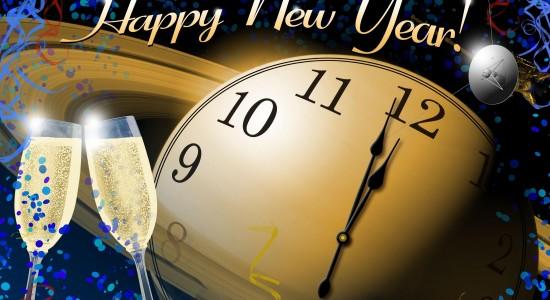 Happy New Year NASA Theme