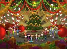 Phineas and Ferb Christmas Wallpaper