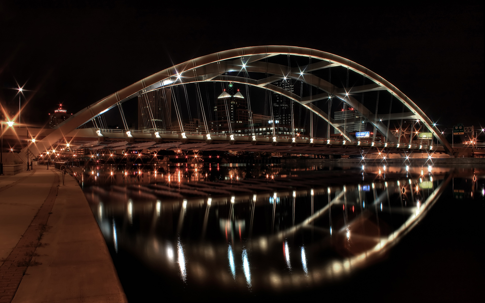 Stunning Reflective Bridge