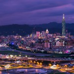 Purple City Twilight Scenery