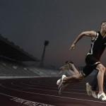 Athletic Running HD Image
