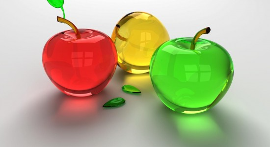 Cool HD Glass Apples Background Image