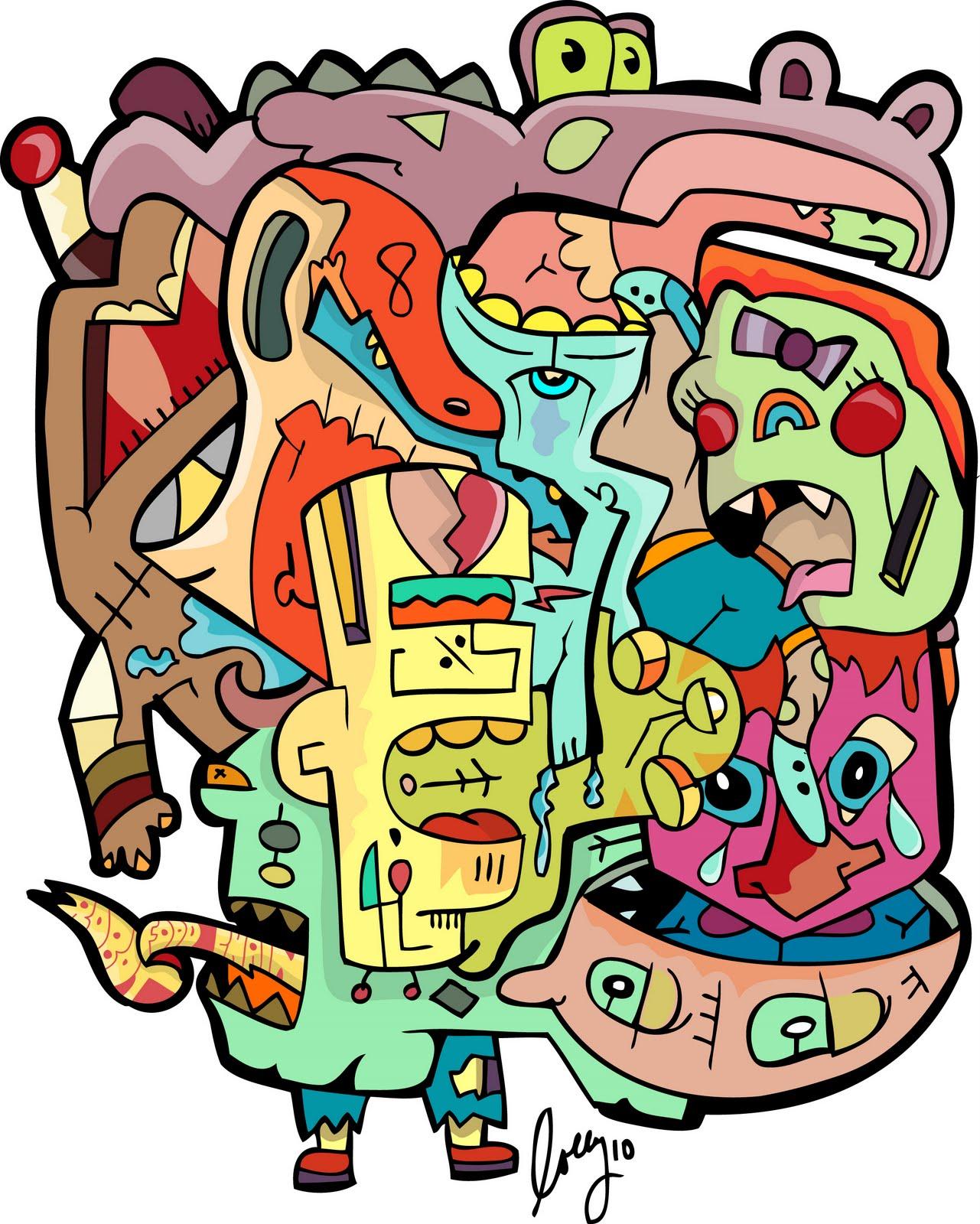 Funky Food Chain HD Image