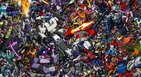 HD Collage of Transformers Desktop Background