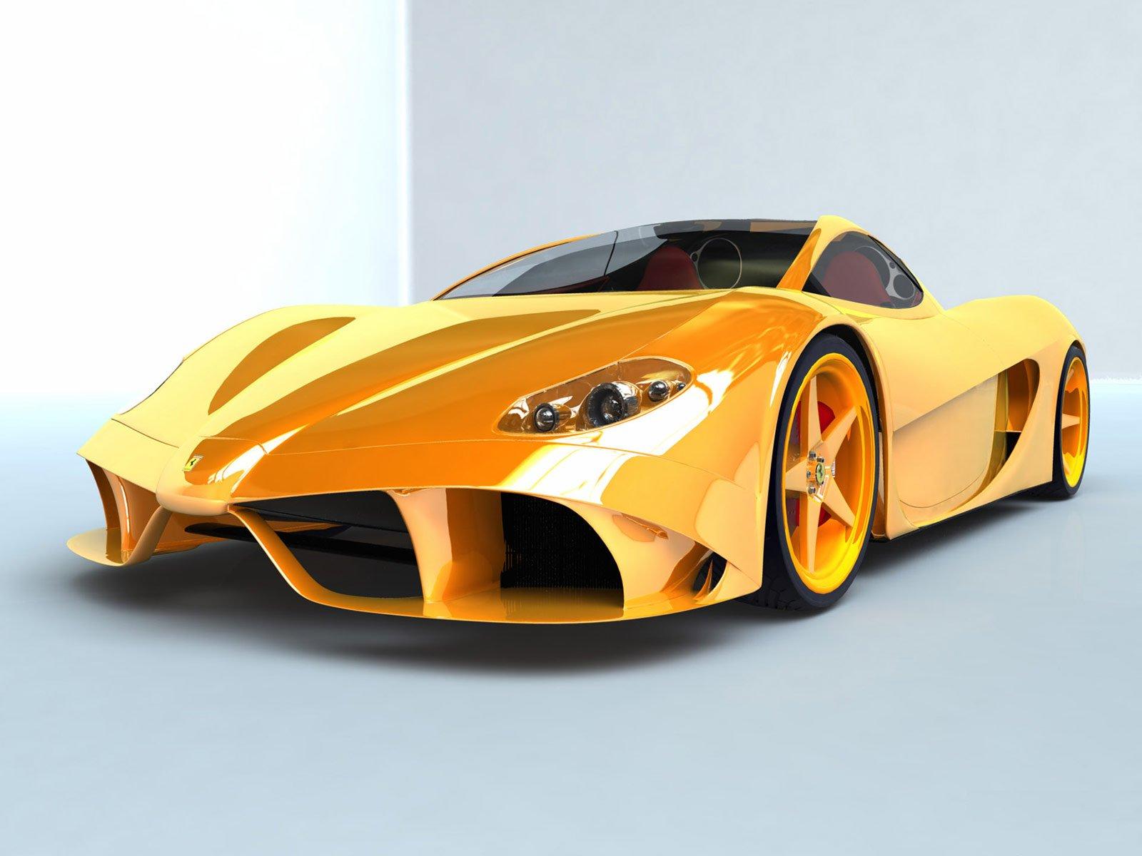 HD Yellow Ferrari Wallpaper
