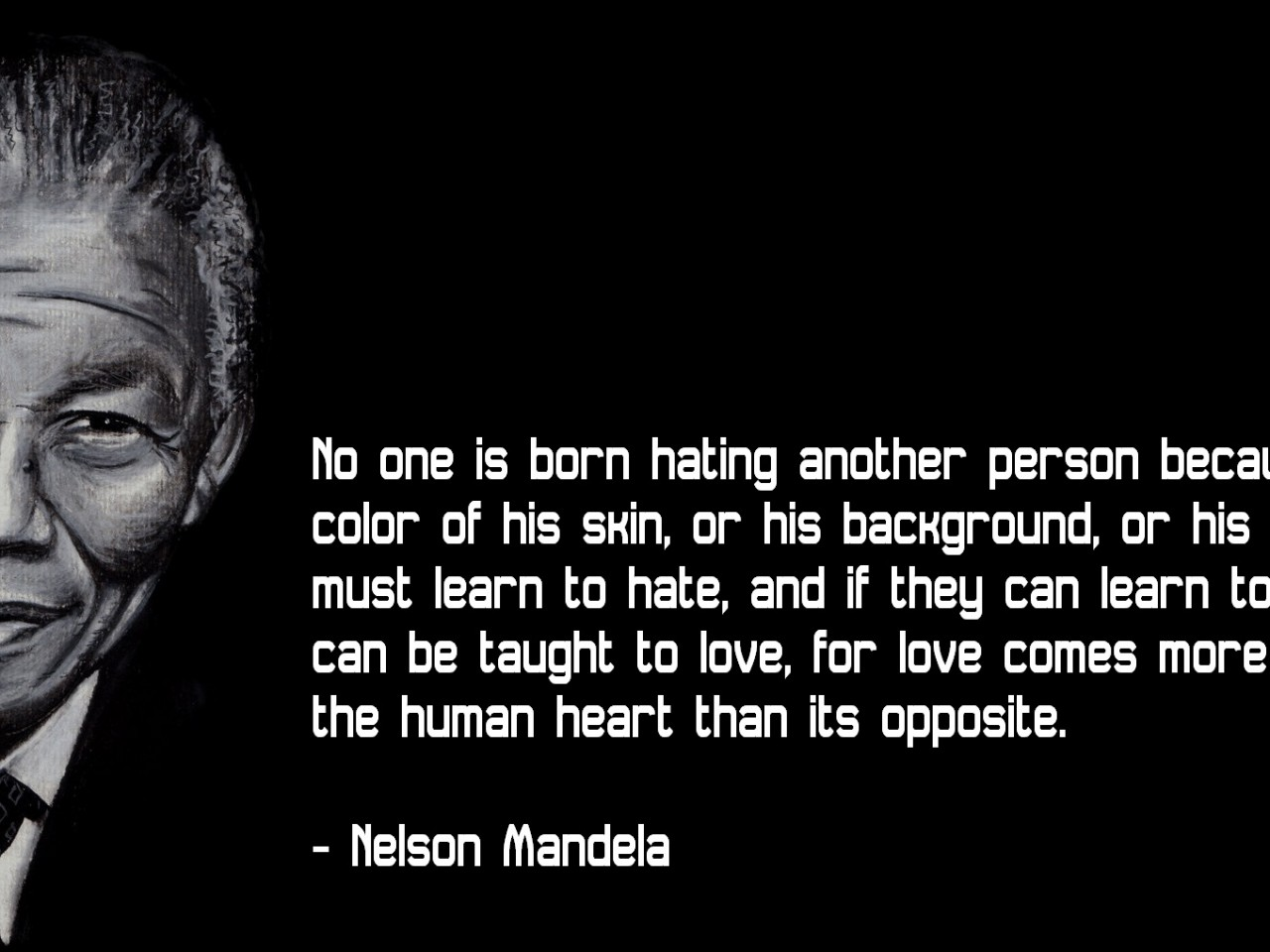 Inspirational HD Quote From Nelson Mandela   HD Wallpapers