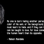Inspirational HD Quote from Nelson Mandela