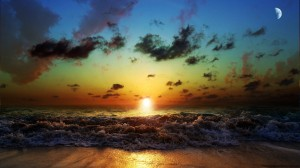 Sunset-San-and-Sea-Nature-Wallpaper