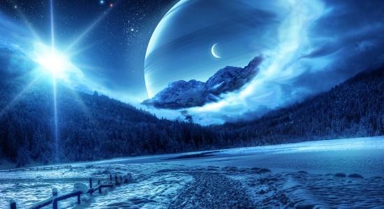 Blue Snowcapped Serenity Wallpaper
