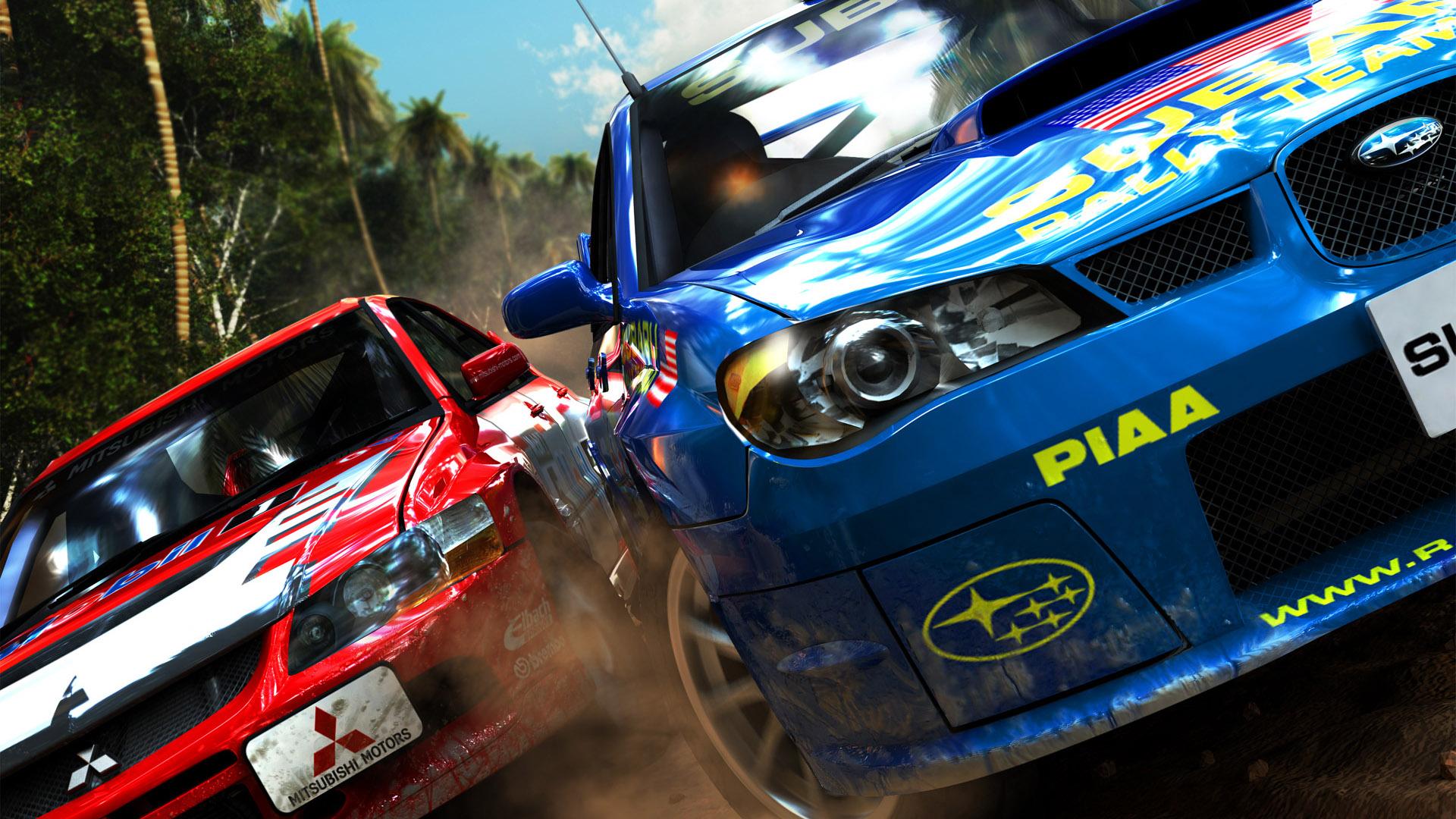 CGI Subaru and Mitsubishi Rally