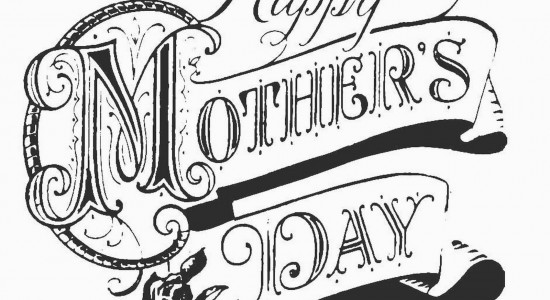 Caligraphy Wrote Mothers Day