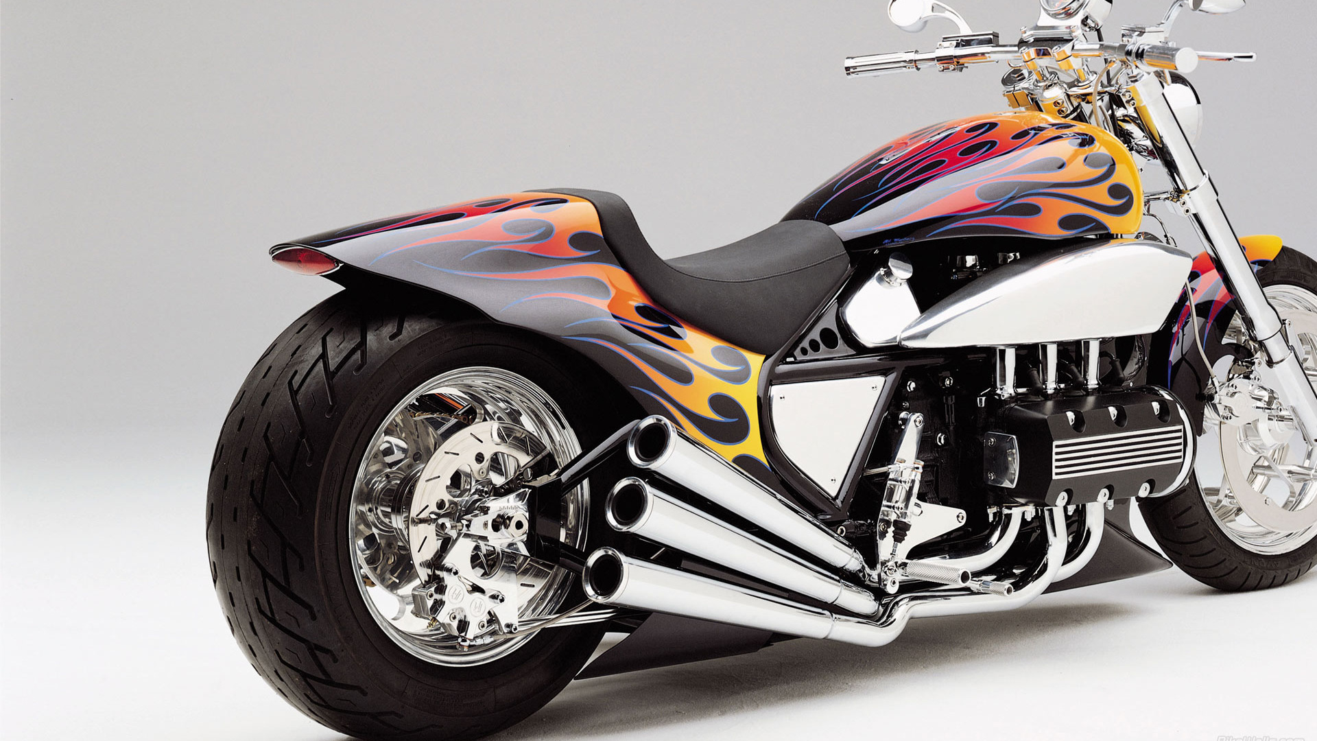 Download 'fast flaming superbike' HD wallpaper
