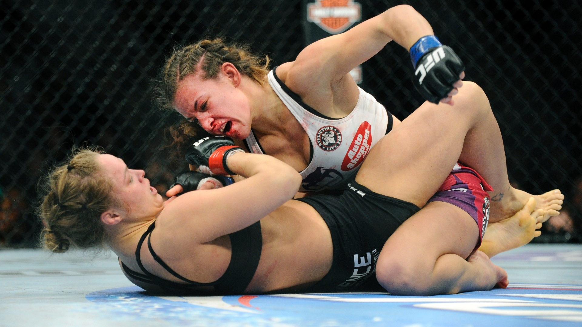 Ground and Pound Meisha Tate and Ronda Rousey