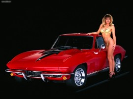 Sexy Lady Chevrolet Corvette