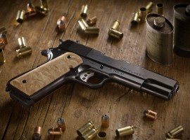 CGI Classic 1911 Pistol Background Wallpaper
