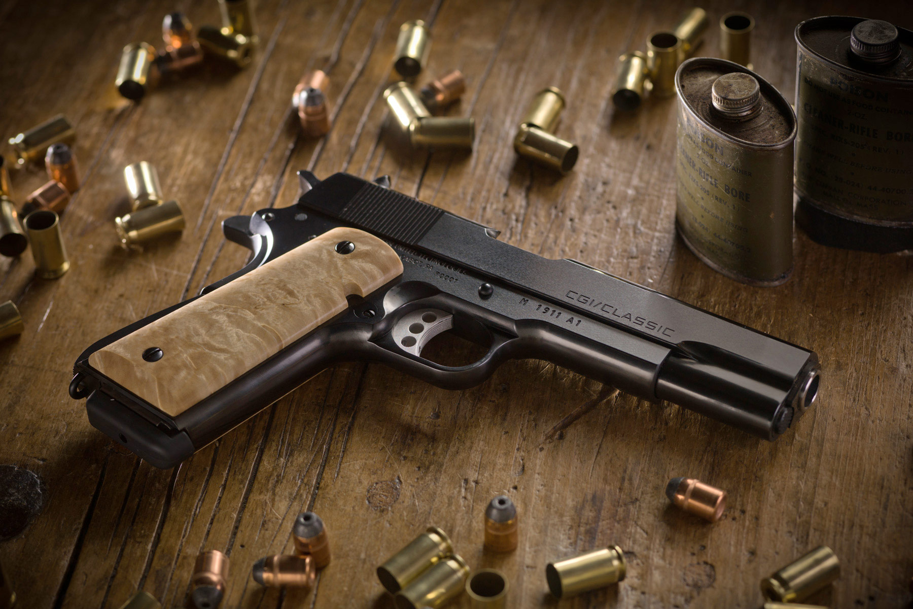 CGI Classic 1911 Pistol Background Wallpaper - HD Wallpapers