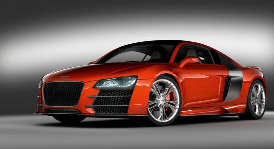 Cool Red Audi Sports Car Desktop