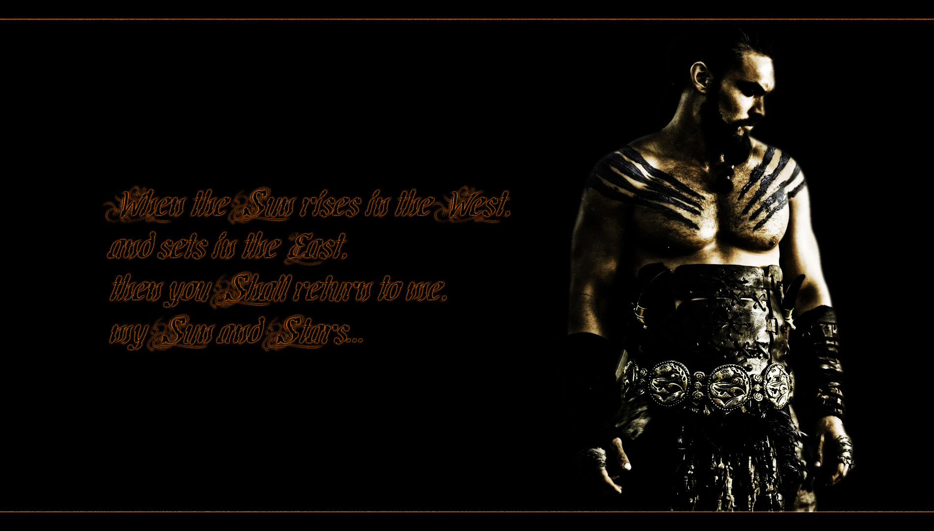Game of Thrones Drogo Quote High Resolution Wallpaper